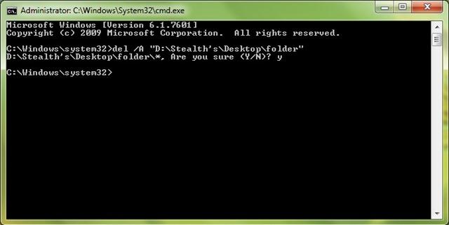 Ištrinti-files-from-the-folder-cmd