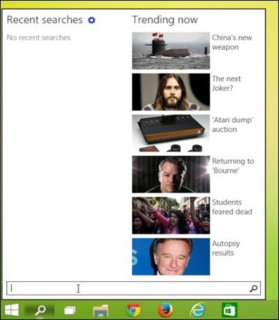 Pencarian taskbar
