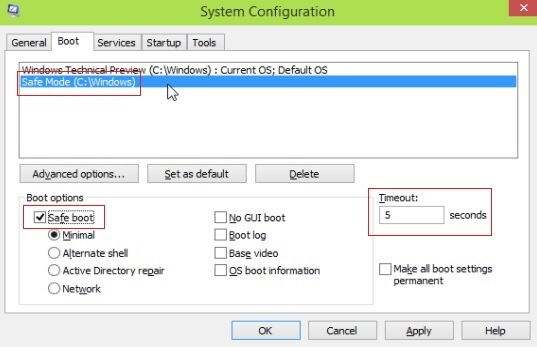 enable-safe-mode-in boot-menu
