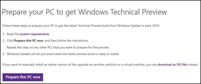 pripraviti do get-Windows-10 posodabljanje
