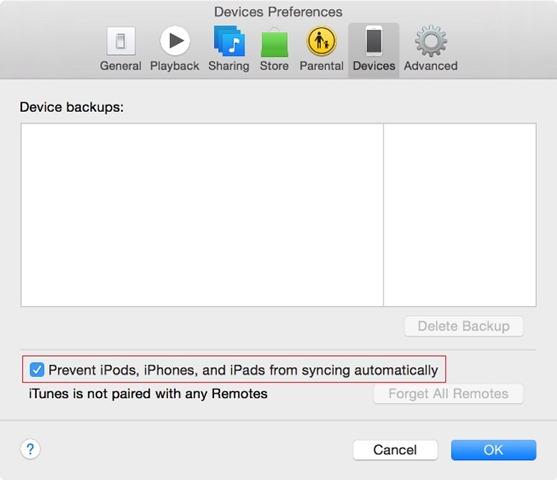 """Užkirsti kelią """"iPod""""iPhone""""s-and-iPad"""" iš sinchronizavimo automatiškai"""