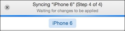 -Syncing iPhone