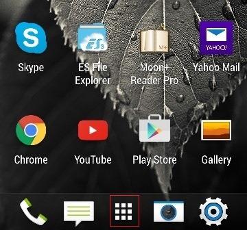 Android etusivulla