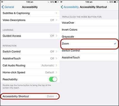 iOS prieinamumas-nuoroda