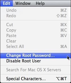 OSX kaita šaknų slaptažodį