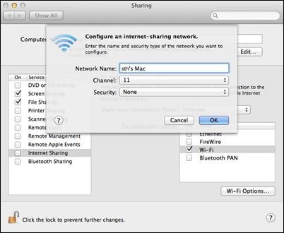 OSX-configure-internet-jakamisvalinnat