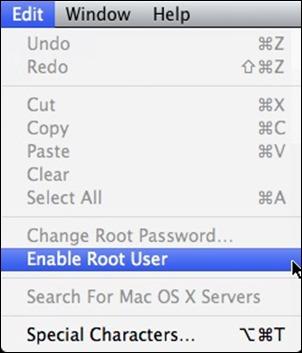OSX įjungti šaknies vartotojas