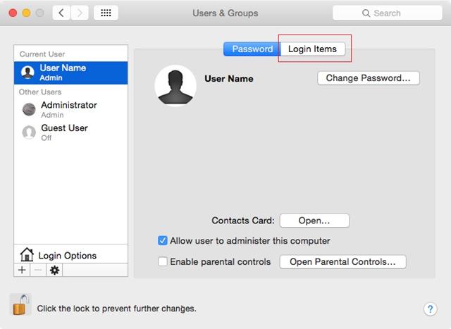 OSX - 및 - 사용자 그룹