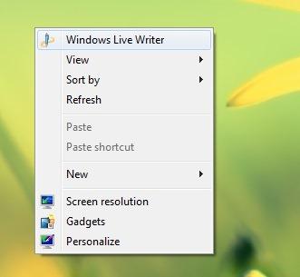 add-atajo a-desktop-Menú de contexto