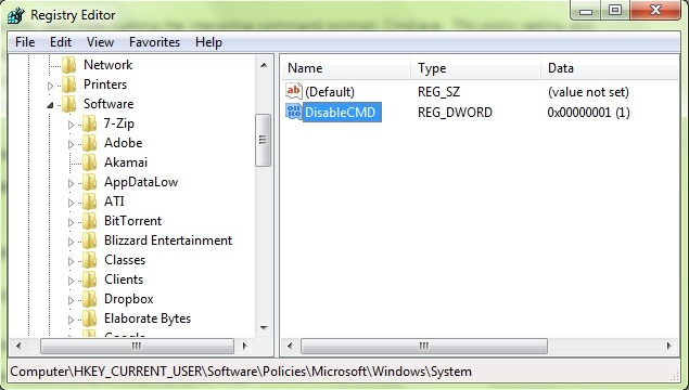 How can we restrict access to Command Prompt in Windows - STEALTH