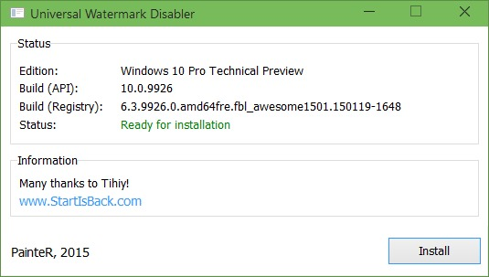 windows 10 pro insider preview evaluation copy watermark