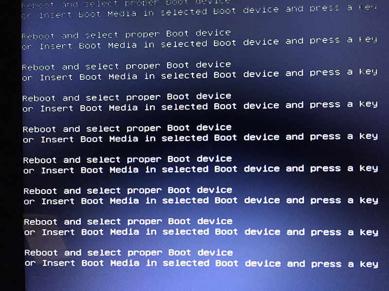 Laptop Notebook Reboot And Select Proper Boot Device