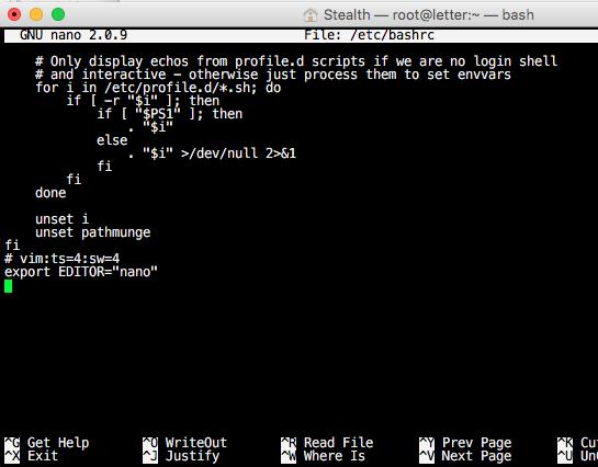 νανο-editor-linux