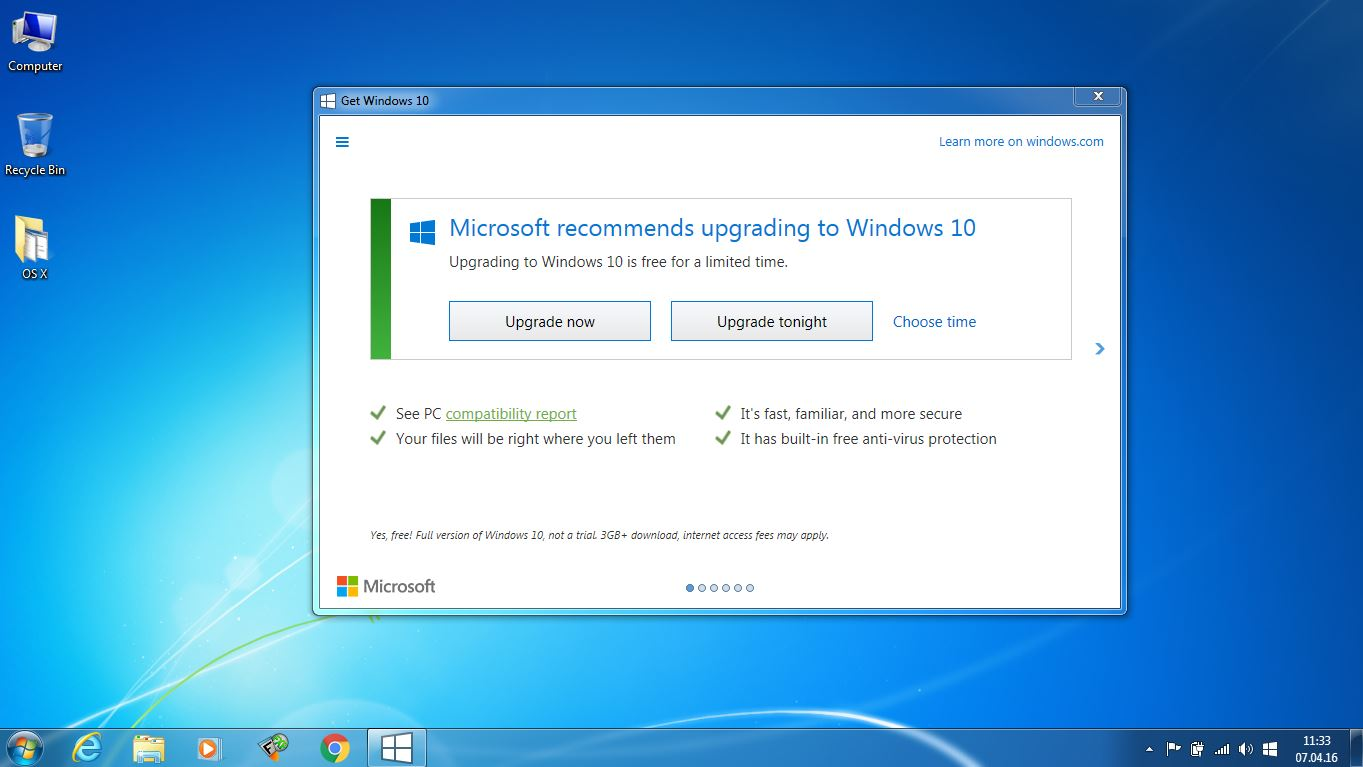 Dezactivare windows 10 upgrade in windows 7 windows 8 for Window upgrade