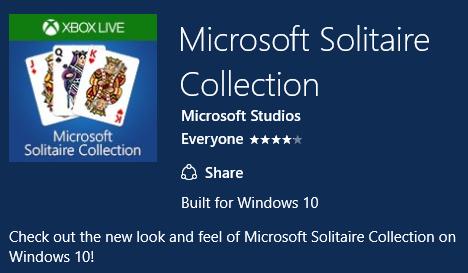 Η Microsoft Solitaire Collection