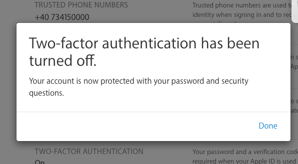 Две-Factor Authentication Изключване
