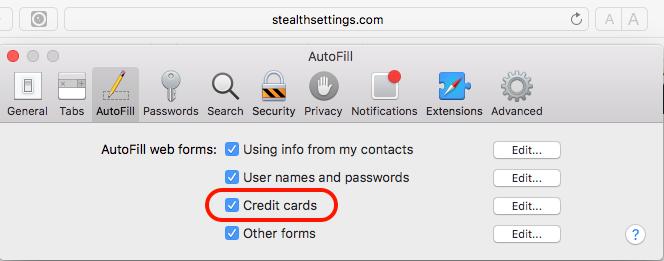 AutoFill in Chrome and Safari can provide hacker credit card