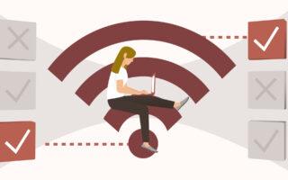 Wi-Fi 6E-6GHz 대역은 Wi-Fi 6 라우터에서 지원됩니다.