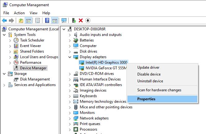 intel hd graphics 3000 windows 10 driver