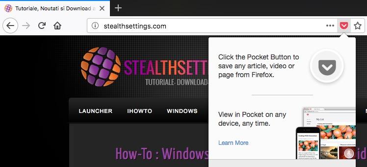 Pocket Aus Firefox Entfernen