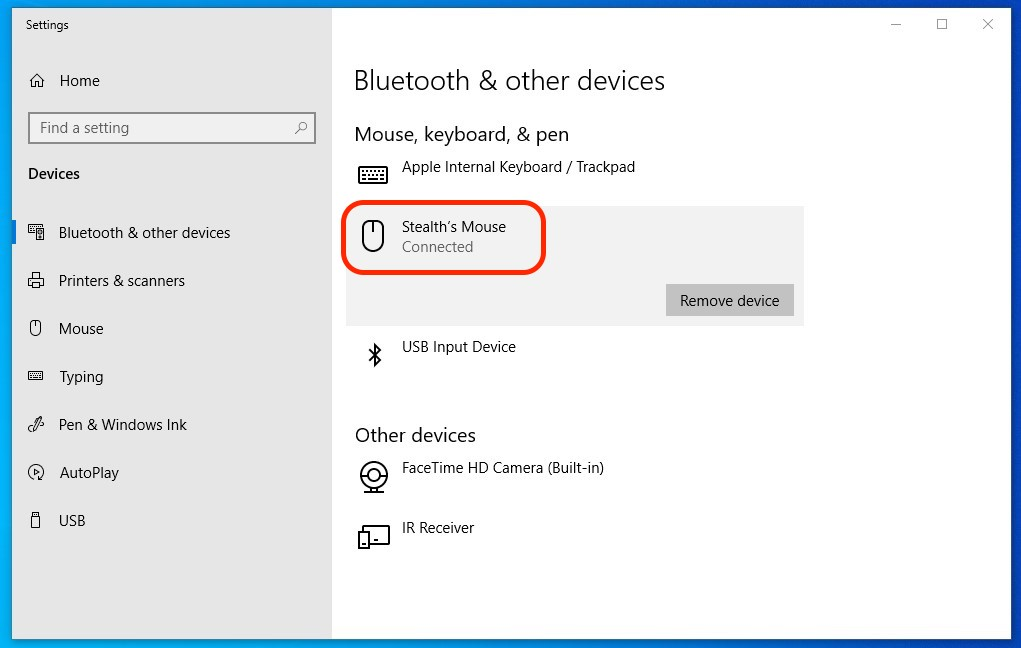 How do I change the name of a Bluetooth device (Apple Magic