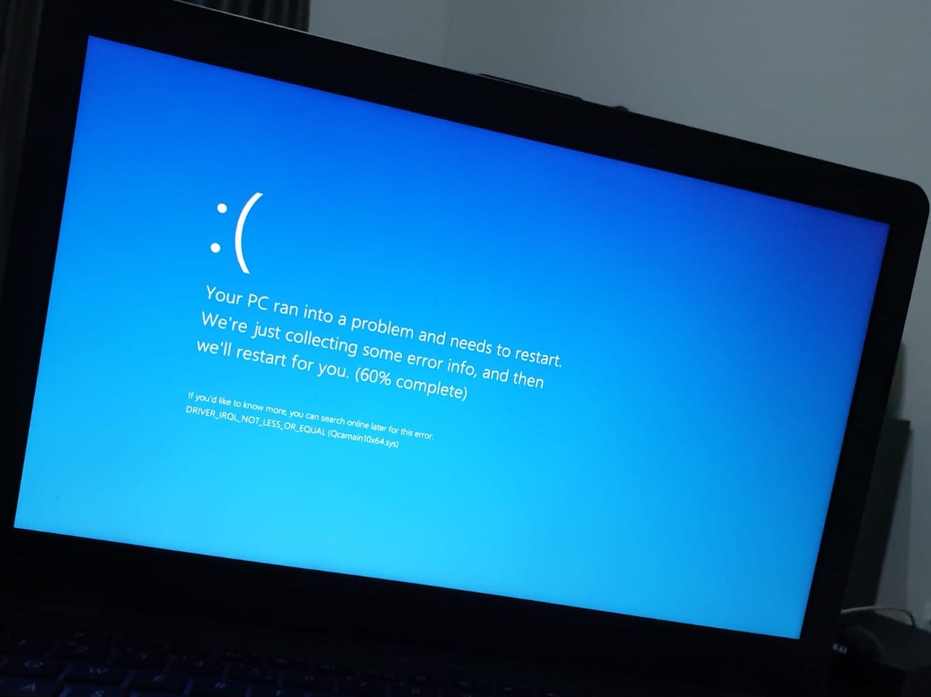 How to fix the BSOD (BLUE SCREEN) error