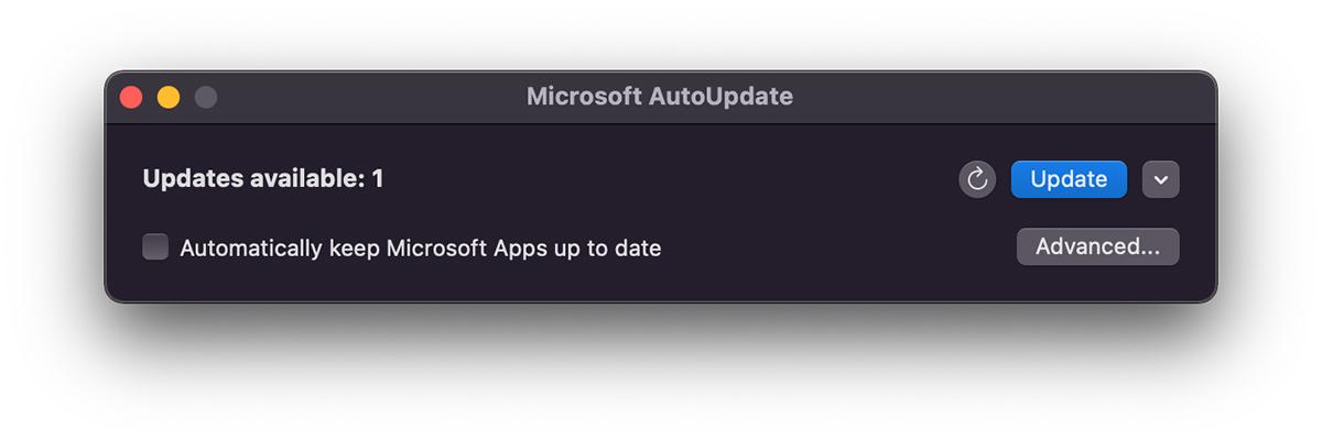 التحديث التلقائي من Microsoft